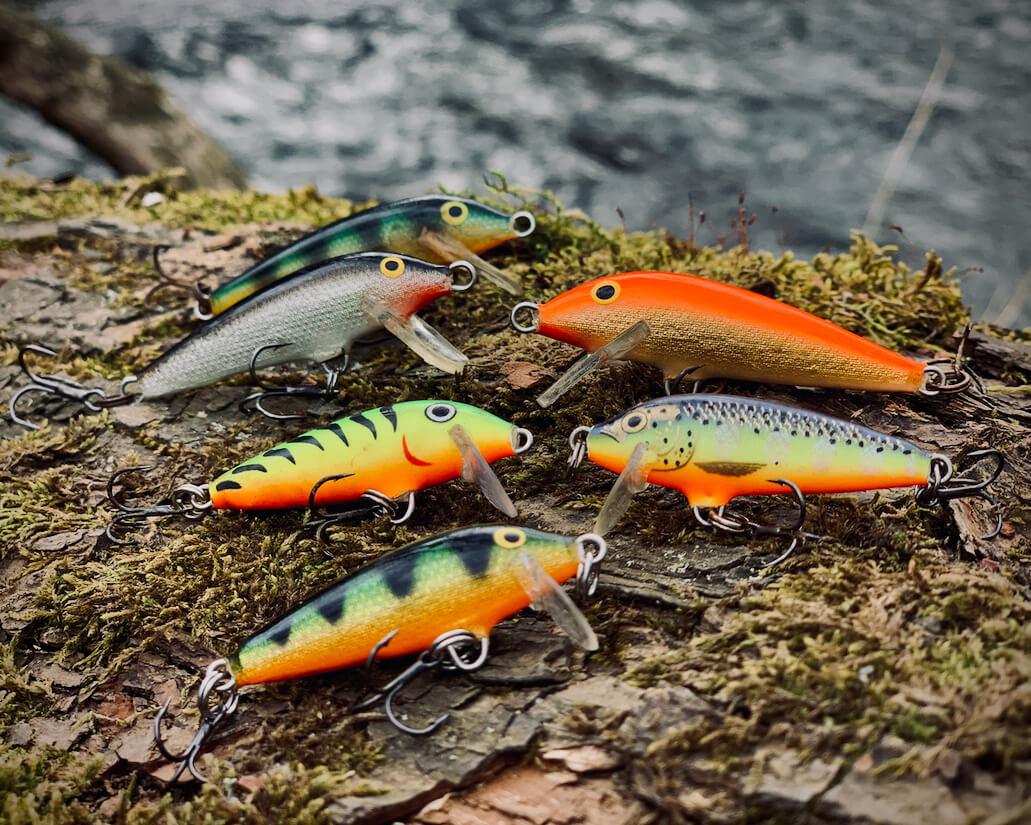 Farbauswahl zum Forellenangeln